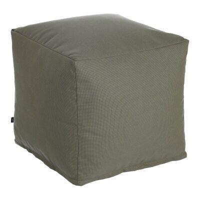 Amold Fabric Square Pouf, Grey