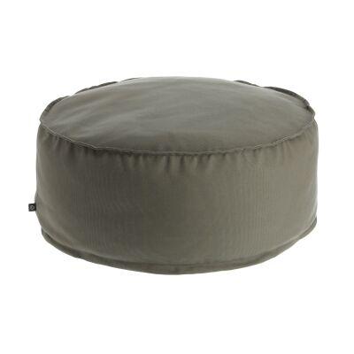 Amold Fabric Round Pouf, Grey