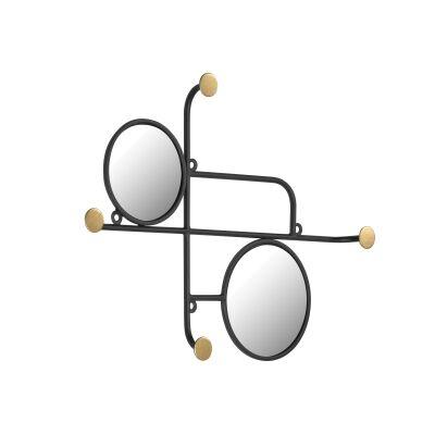 Floresta Iron Wall Hanger with Mirrors, 50cm