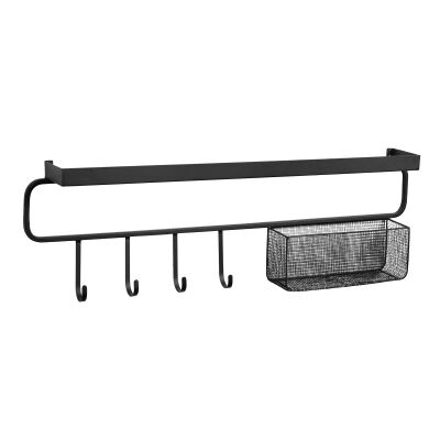 Colonia Iron Wall Hanger with Basket, 86cm