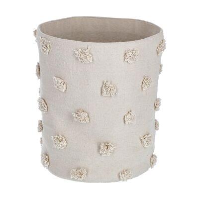 Bostik Handmade Cotton Basket, Large, Beige