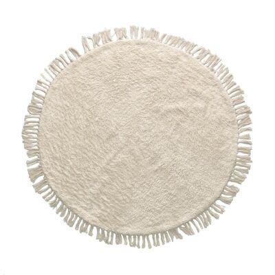 Barbany Hand Woven Cotton Round Shag Rug, 100cm