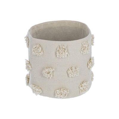 Bostik Handmade Cotton Basket, Small, Beige
