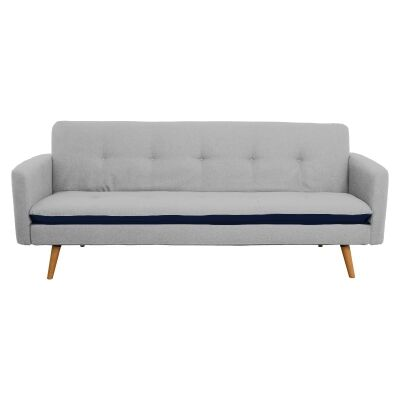 Abby Ezy Action Fabric Futon Sofa Bed, Light Grey