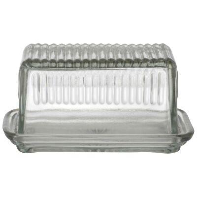 Hemingway Glass Butter Dish