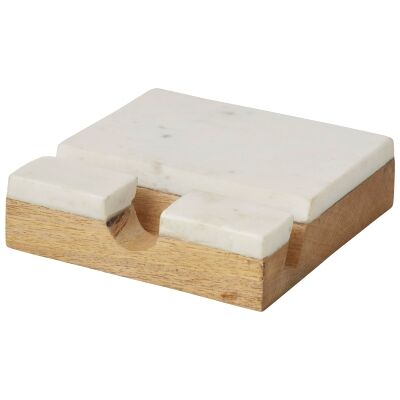 Eliot Marble & Mango Wood Tablet Recipe Stand