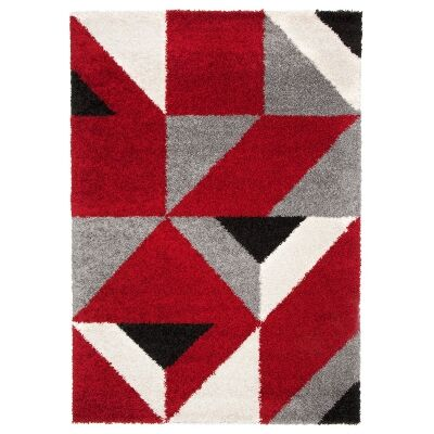 Acoustic Willfred Belgian Made Modern Rug, 230x160cm, Red