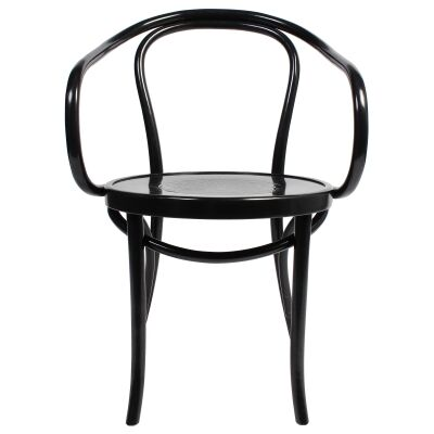 Princess Polish Made Commercial Grade European Beech Timber Dining Armchair, Black