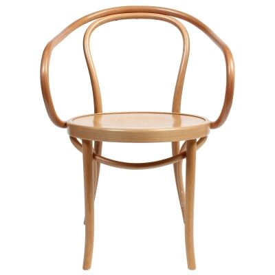 Princess Polish Made Commercial Grade European Beech Timber Dining Armchair, Natural