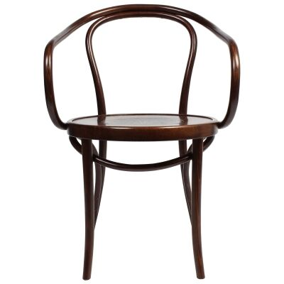 Princess Polish Made Commercial Grade European Beech Timber Dining Armchair, Walnut