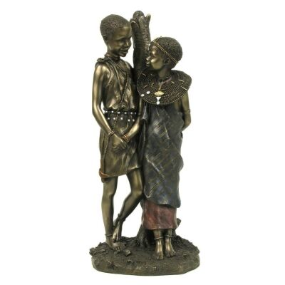 African People Figurine of Utoto Mpenzi, Childhood Sweethearts