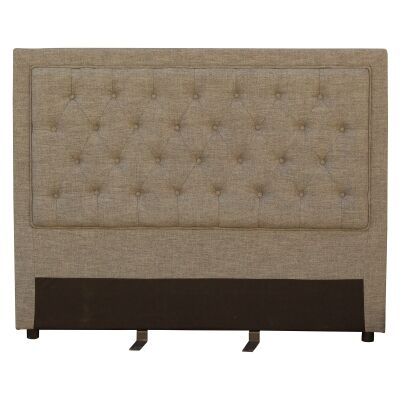 Arwen Tufted Fabric Bed Headboard, Queen, Dark Beige