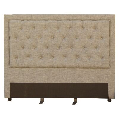 Arwen Tufted Fabric Bed Headboard, Queen, Light Beige
