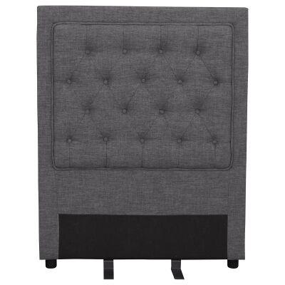 Arwen Tufted Fabric Bed Headboard, Single, Dark Grey