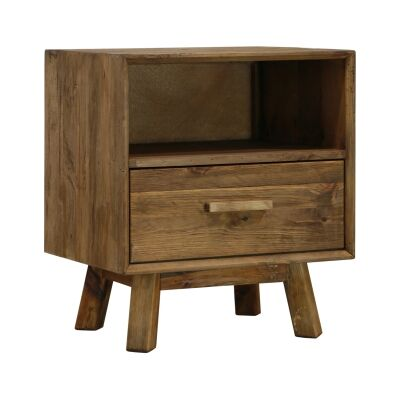 Mandalay Recycled Pine Timber Bedside Table