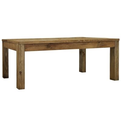 Mandalay Recycled Pine Timber Dining Table, 200cm
