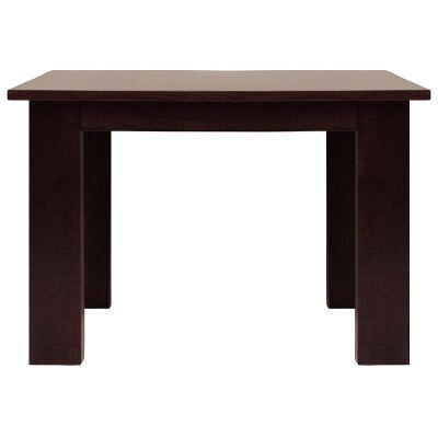 Neasham Solid Mango Wood Timber Square Dining Table, 110cm, Dark Chocolate