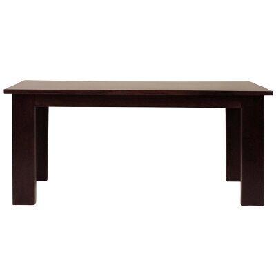 Neasham Solid Mango Wood Timber Dining Table, 220cm, Dark Chocolate