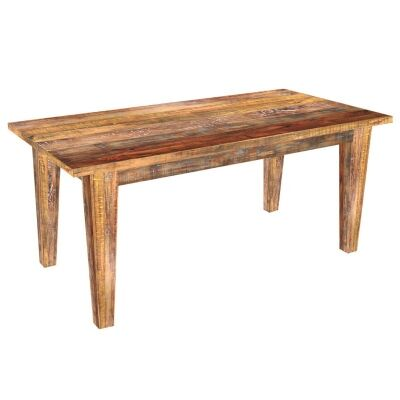 Petherton Solid Mango Wood Timber 220cm Dining Table