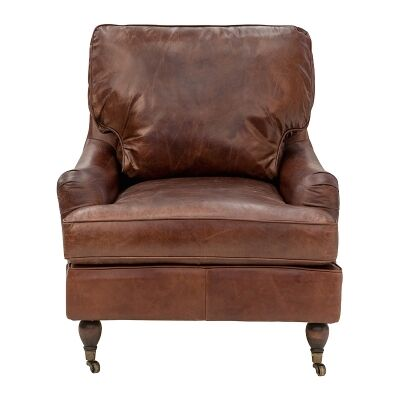 Bilston Aged Leather Lounge Chair