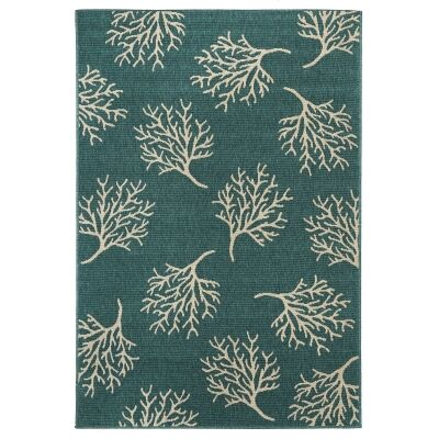 Alfresco Coral Reef Egyptian Made Outdoor Rug, 220x150cm, Turquoise