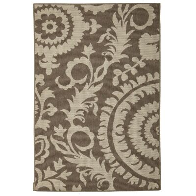 Alfresco Royal Egyptian Made Outdoor Rug, 220x150cm, Beige / Brown