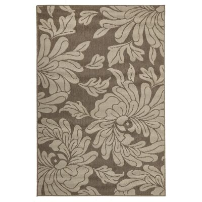 Alfresco Bloom Egyptian Made Outdoor Rug, 270x180cm, Beige / Brown