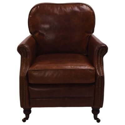 Southwell Aged Leather Armchair