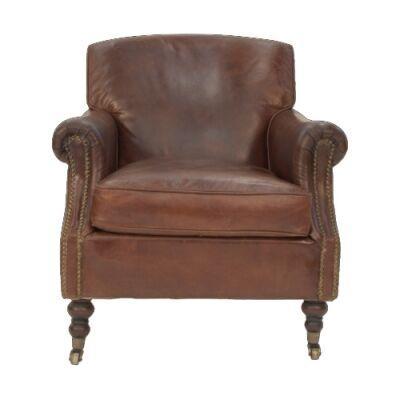 Weldon Aged Leather Armchair