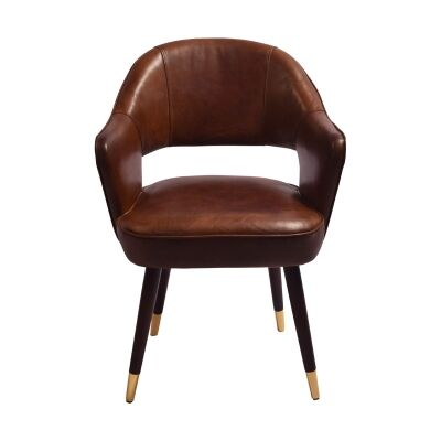 Martello Aged Leather Dining Armchair