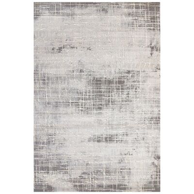 Alyssum Orion Textured Modern Rug, 150x80cm, Grey / Ivory
