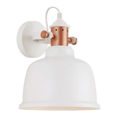 Alta Iron Wall Light, Matt White