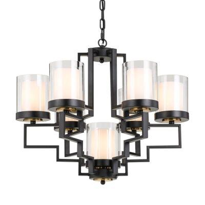 Alvarez Metal Pendant Light, Large, Black