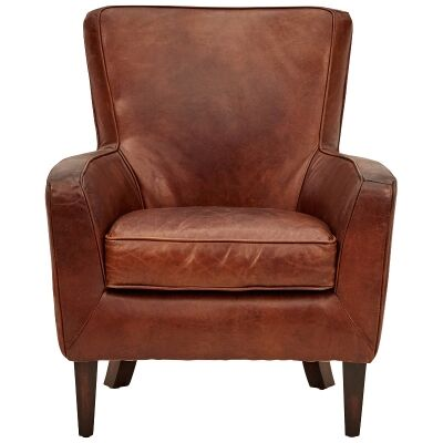Caythorpe Aged Leather Armchair