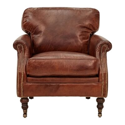Edinburgh Aged Leather Armchair