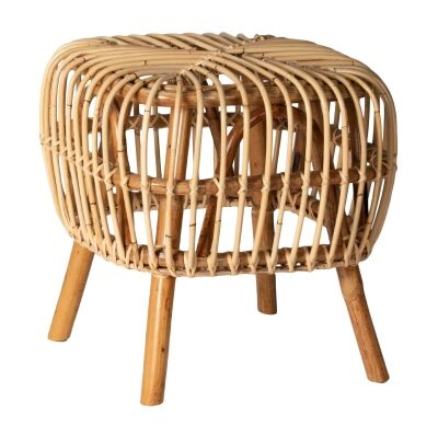 Norman Rattan Side Table, Natural