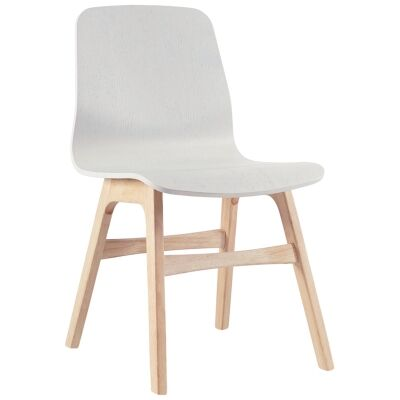 Alyssa Timber Dining Chair, White / Natural