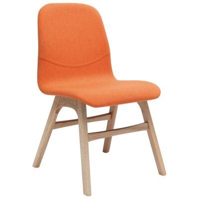 Alyssa Fabric Dining Chair, Tangerine / Natural