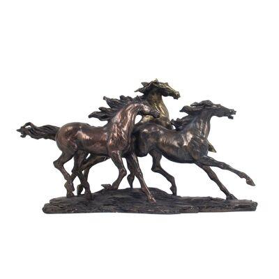 Veronese Cold Cast Bronze Coated Figurine, Gabriella Veronese's Wild Horse of Camargue