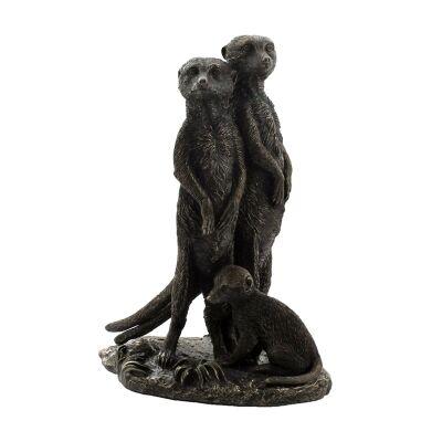 Cast Bronze Wild Life Figurine, Meerkat