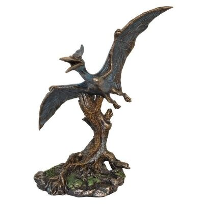 Veronese Cold Cast Bronze Coated Dinosaur Figurine, Pteranodon