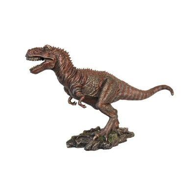Veronese Cold Cast Bronze Coated Dinosaur Figurine, Tyrannosaurus