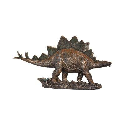 Veronese Cold Cast Bronze Coated Dinosaur Figurine, Kentrosaurus