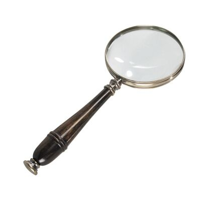 Cambridge Rosewood Handle Magnifier - Bronze