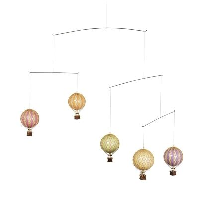 Flying The Skies Balloon Mobile Decor, Pastel Colours
