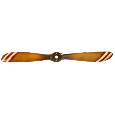Barnstormer Recycled Pine Timber Replica Flight Propeller, Small, Red & White Stripe