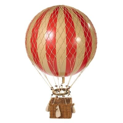 Jules Verne Hot Air Balloon Model - Red