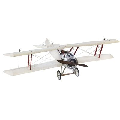 Sopwith Camel Airplane Scale Model, Large, Off White