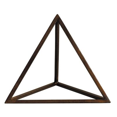 Solid Timber Platonic Tetrahedron Model - The Element Fire