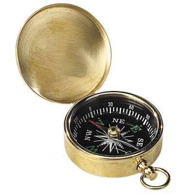 Charlotte Solid Brass Pocket Compass
